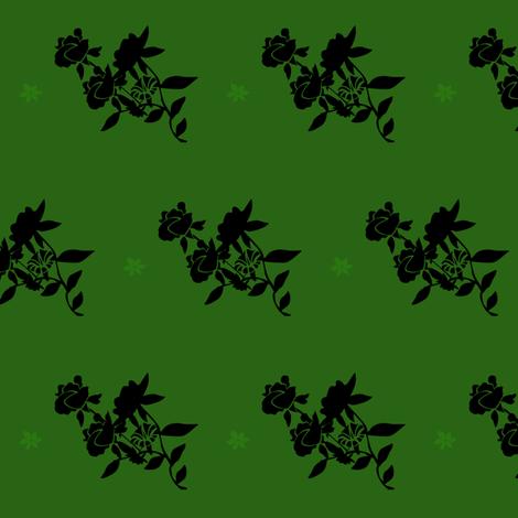 Emerald Bouquet fabric by kaedralynn on Spoonflower - custom fabric