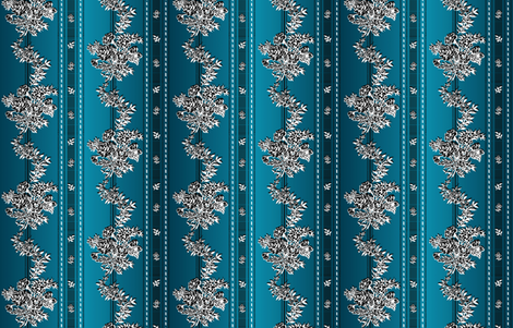Ombre Wishing Gown Inspired Fabric - #3 - Teal Tinted fabric by kaedralynn on Spoonflower - custom fabric