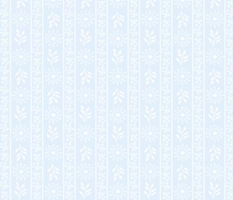Floral Stripes in Powder Blue fabric by kaedralynn on Spoonflower - custom fabric
