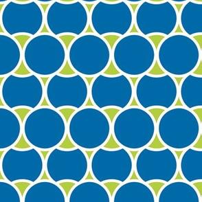 Modern Blue Circles