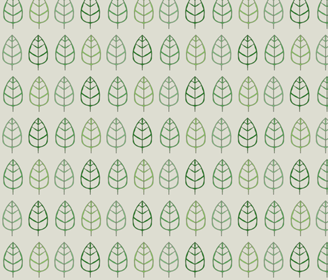 Empty Leaves fabric by wiccked on Spoonflower - custom fabric