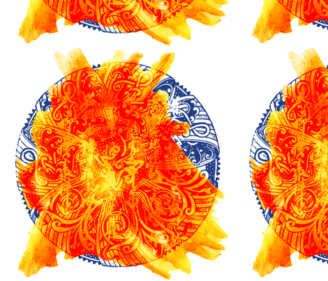 Fireball fabric by feebeedee on Spoonflower - custom fabric