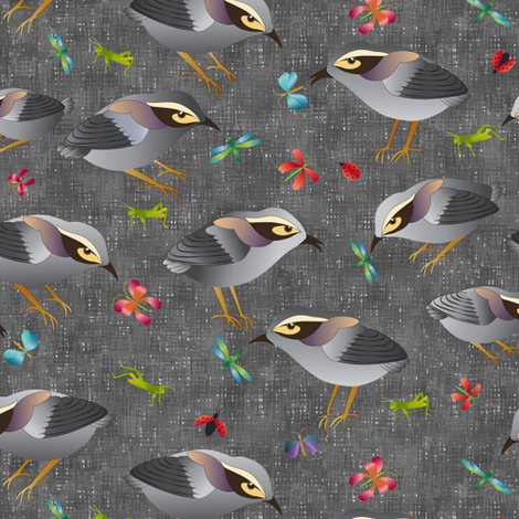 Mātuhi - the New Zealand Bush Wren fabric by vo_aka_virginiao on Spoonflower - custom fabric
