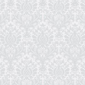 India Damask white