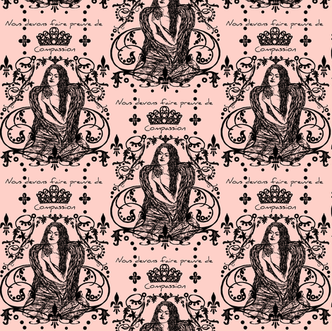 pink compassion fabric by paragonstudios on Spoonflower - custom fabric