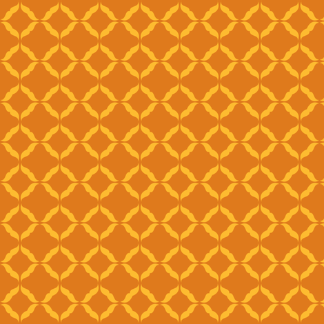 moustaches_orange fabric by owls on Spoonflower - custom fabric