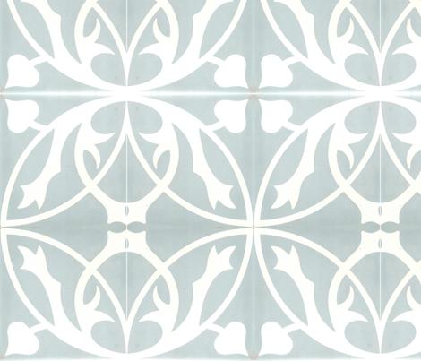 Through The Lattice blue fabric by flyingfish on Spoonflower - custom fabric