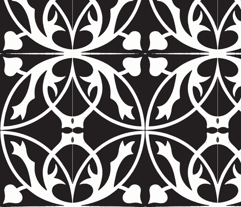 Through the Lattice fabric by flyingfish on Spoonflower - custom fabric