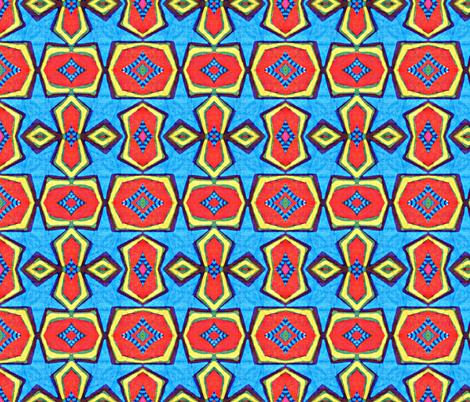 little blue star fabric by hooeybatiks on Spoonflower - custom fabric