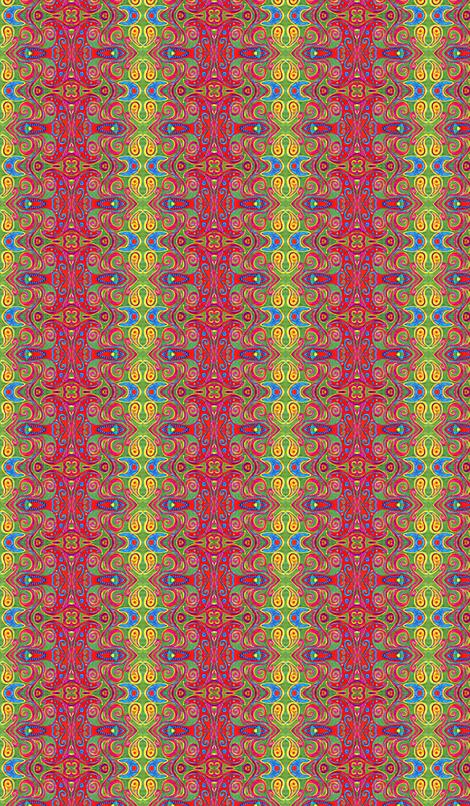 Blue star's neighbor fabric by hooeybatiks on Spoonflower - custom fabric