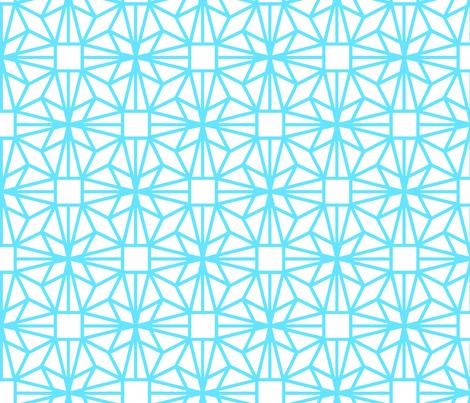 Diamond (turquoise) fabric by pattern_bakery on Spoonflower - custom fabric
