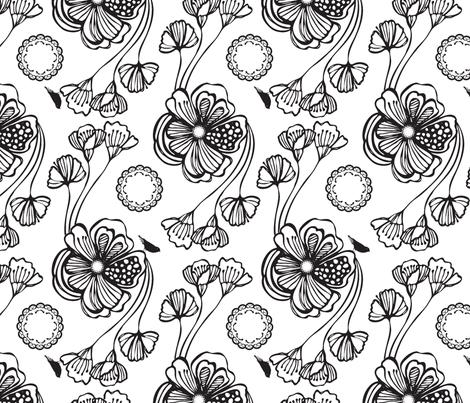 Sugar (black) fabric by pattern_bakery on Spoonflower - custom fabric