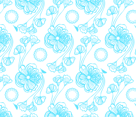 Sugar (turquoise) fabric by pattern_bakery on Spoonflower - custom fabric