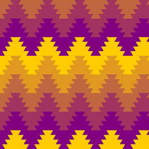 01237289 : jagged zigzag 5 warm