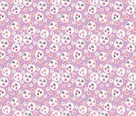 Flora (Lilac) fabric by mondaland on Spoonflower - custom fabric