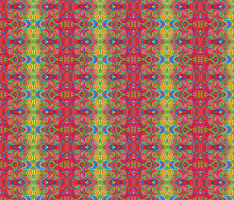 Blue star's teeny neighbor fabric by hooeybatiks on Spoonflower - custom fabric