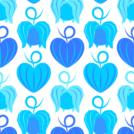 Hozuki (Blue) fabric by nekineko on Spoonflower - custom fabric