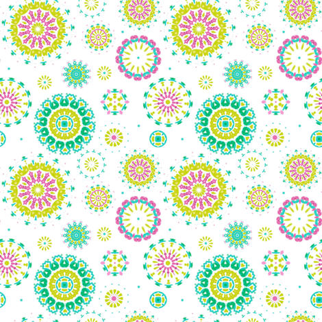 Summer Circles fabric by joanmclemore on Spoonflower - custom fabric