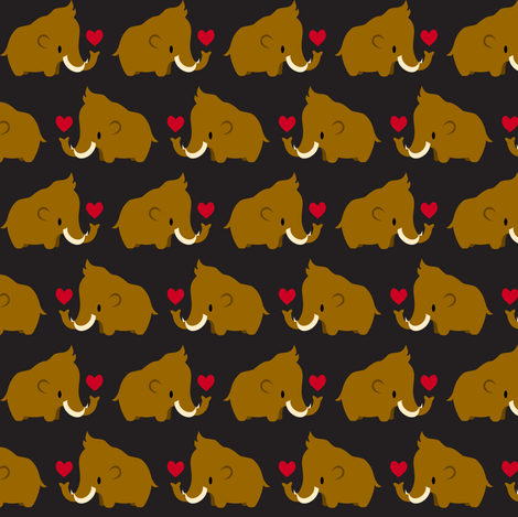 Kawaii Mammoths fabric by petitspixels on Spoonflower - custom fabric