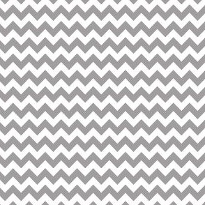 grey & white mini chevron