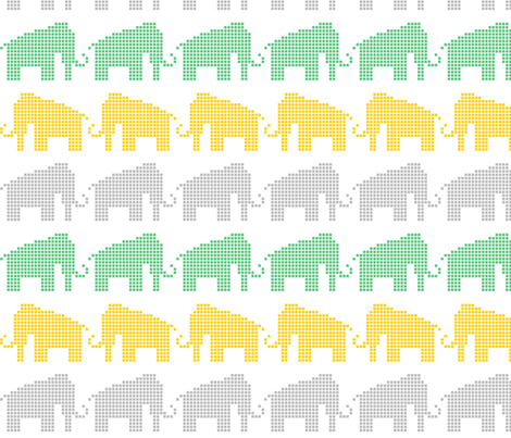 Woolly Mammoth Pixels fabric by jgpatterns on Spoonflower - custom fabric