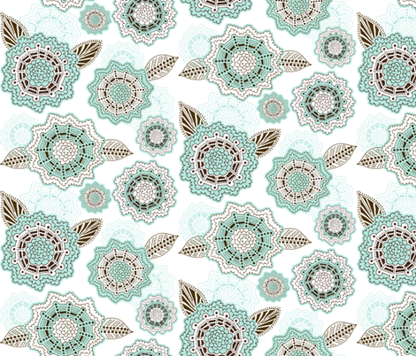 Henna Flowers fabric by run_quiltgirl_run on Spoonflower - custom fabric