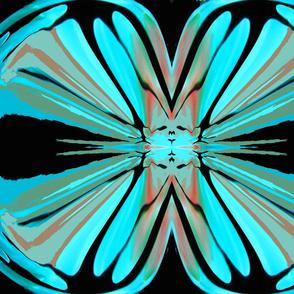 magic flower in blues