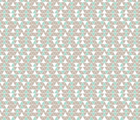 Chocolate and mint  ice cream fabric by seabluestudio on Spoonflower - custom fabric