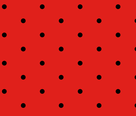 Hot red polka dot cocktail dress fabric