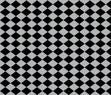 Small Harlequin Check in Dark Gray fabric by charmcitycurios on Spoonflower - custom fabric