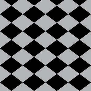 Small Harlequin Check in Dark Gray