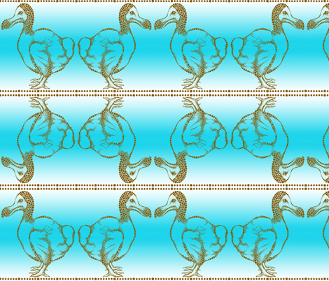 Gone_The_Way_of_the_Dodo fabric by amy_lou_who on Spoonflower - custom fabric