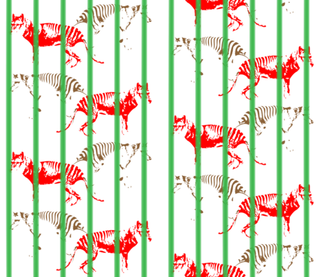 animais-extintos fabric by hofacker on Spoonflower - custom fabric