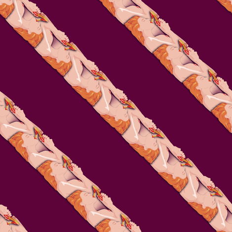 Manly tie stripe fabric by hannafate on Spoonflower - custom fabric