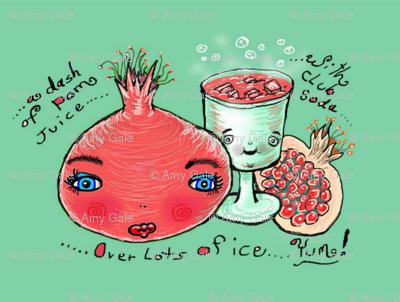 pomegranate summer drink recipe