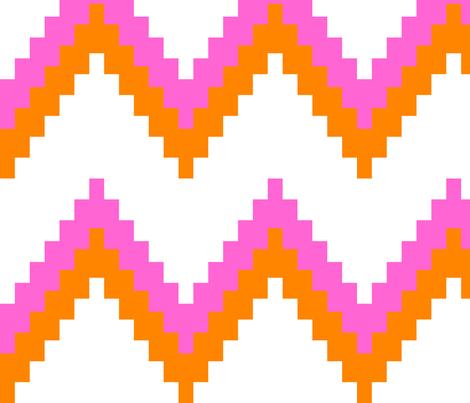 Pink and Orange Chevron fabric by tinamhall on Spoonflower - custom fabric