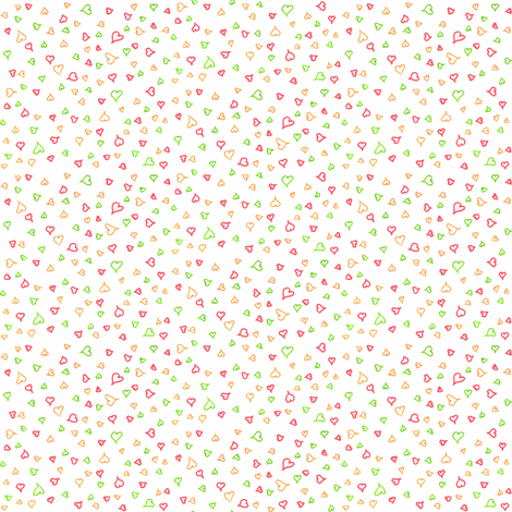 Ditsy hearts fabric by greennote on Spoonflower - custom fabric
