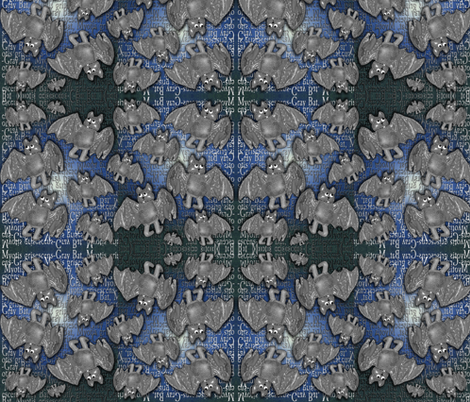 Gray Bat - Endangered -2 fabric by kimb_kreatures on Spoonflower - custom fabric