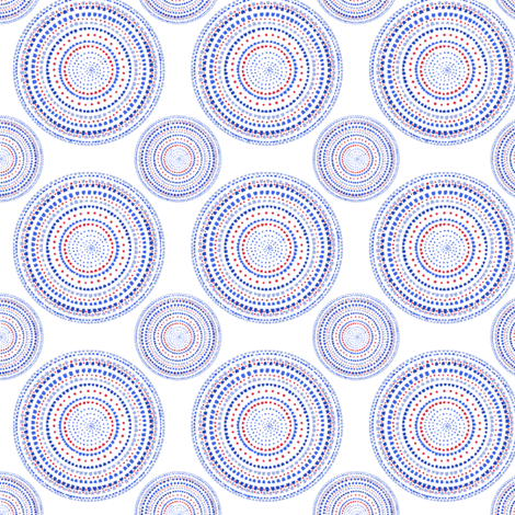 Dancing dervish circles or mandala on white by Su_G fabric by su_g on Spoonflower - custom fabric