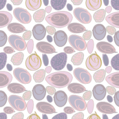 Soft Pink Mauve Seashells Design