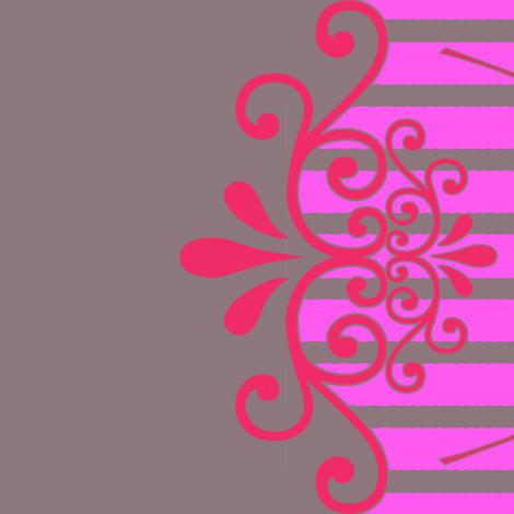 Ooh, La -La Border Print fabric by mammajamma on Spoonflower - custom fabric