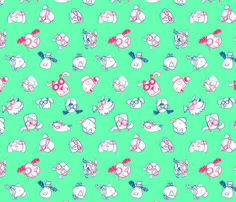 JoBrownSpectacularDogs4 fabric by happytomato on Spoonflower - custom fabric