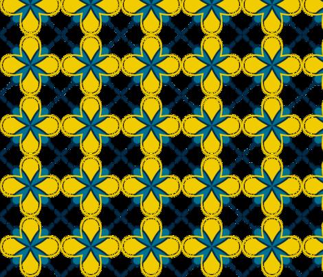 sunny dandilion geometric sun fabric by tailorjane on Spoonflower - custom fabric
