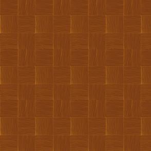 Woven lauhala mat  natural dark