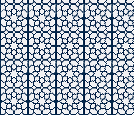Moroccan Lattice fabric by flyingfish on Spoonflower - custom fabric