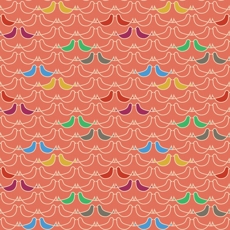 SUMMER - pink birds fabric by sary on Spoonflower - custom fabric