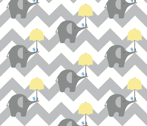 zekie chevron & umbrella fabric by paragonstudios on Spoonflower - custom fabric