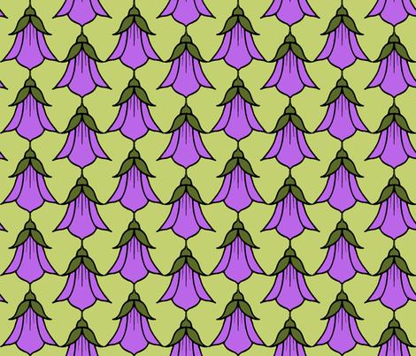 Campanula_pink fabric by adranre on Spoonflower - custom fabric