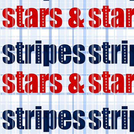 stars-stripes-type fabric by ninjaauntsdesigns on Spoonflower - custom fabric