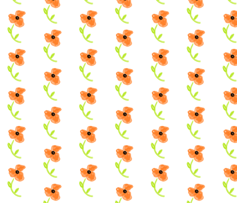 orange_flower fabric by suemc on Spoonflower - custom fabric